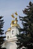 Θόλος εκκλησιών με τους σταυρούς Στοκ φωτογραφία με δικαίωμα ελεύθερης χρήσης