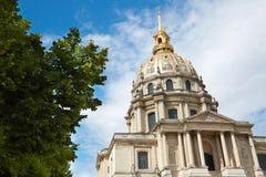 Θόλος καθεδρικών ναών Invalides Les στο Παρίσι Στοκ Εικόνες