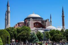 Θόλος και μιναρή Hagia Sophia Στοκ Εικόνες