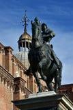 Θόλος μνημείων του Bartolomeo Colleoni και βασιλικών SAN Giovanni ε Paolo Στοκ εικόνα με δικαίωμα ελεύθερης χρήσης