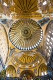 Θόλος της αρχαίας βασιλικής Hagia Sophia στη Ιστανμπούλ Στοκ εικόνες με δικαίωμα ελεύθερης χρήσης