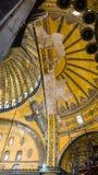 Θόλος της αρχαίας βασιλικής Hagia Sophia Στοκ εικόνες με δικαίωμα ελεύθερης χρήσης