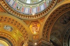 Θόλος της βασιλικής Αγίου Stephen στη Βουδαπέστη Στοκ Εικόνες
