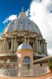 Θόλος της βασιλικής του ST Peter, Βατικανό Στοκ φωτογραφία με δικαίωμα ελεύθερης χρήσης