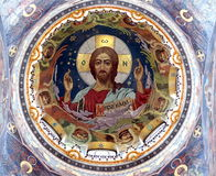 Θόλος της εκκλησίας του λυτρωτή στο αίμα Στοκ Φωτογραφίες