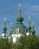 Θόλος της εκκλησίας του ST Andrew στο Κίεβο Στοκ Εικόνα