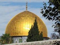 Θόλος της Ιερουσαλήμ του μουσουλμανικού τεμένους 2012 βράχου Στοκ Εικόνες