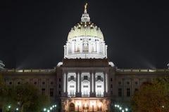 Θόλος της Πενσυλβανίας Capitol Στοκ Εικόνες