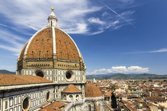 Θόλος του διάσημου καθεδρικού ναού Duomo Στοκ εικόνες με δικαίωμα ελεύθερης χρήσης