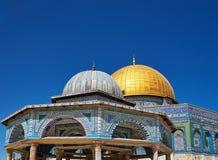 Θόλος του μουσουλμανικού τεμένους βράχου στην Ιερουσαλήμ Στοκ φωτογραφία με δικαίωμα ελεύθερης χρήσης