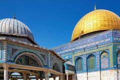 Θόλος του μουσουλμανικού τεμένους βράχου στην Ιερουσαλήμ Στοκ εικόνες με δικαίωμα ελεύθερης χρήσης