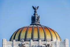 Θόλος Palacio de Bellas Artes του παλατιού Καλών Τεχνών - Πόλη του Μεξικού Στοκ Φωτογραφίες