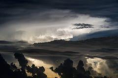 Θύελλα αστραπής πέρα από τον Ατλαντικό Στοκ Εικόνα