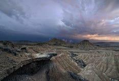 Θύελλα πέρα από την έρημο Στοκ Φωτογραφία
