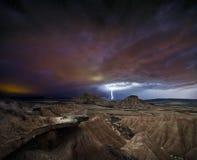 Θύελλα πέρα από την έρημο Στοκ φωτογραφία με δικαίωμα ελεύθερης χρήσης