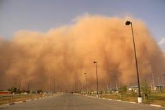 Θύελλα σκόνης ή haboob στοκ εικόνες με δικαίωμα ελεύθερης χρήσης