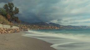Θύελλα στην παραλία στοκ εικόνες με δικαίωμα ελεύθερης χρήσης