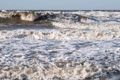 Θύελλα στη θάλασσα Azov στοκ εικόνα