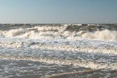 Θύελλα στη θάλασσα Azov στοκ εικόνες
