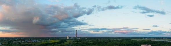 Θύελλα στο ηλιοβασίλεμα Στοκ φωτογραφία με δικαίωμα ελεύθερης χρήσης
