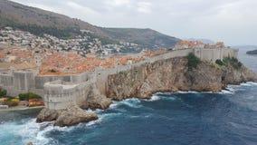 Θύελλα Dubrovnik, Κροατία Δαλματία Στοκ Φωτογραφία