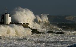 Θύελλα Ophelia που κτυπά Porthcawl Στοκ Φωτογραφίες