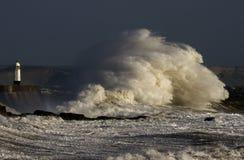 Θύελλα Ophelia που κτυπά Porthcawl Στοκ Εικόνες