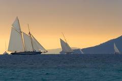 θύελλα regattas κάτω Στοκ φωτογραφία με δικαίωμα ελεύθερης χρήσης