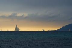 θύελλα regattas κάτω Στοκ Φωτογραφίες