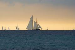 θύελλα regattas κάτω Στοκ εικόνες με δικαίωμα ελεύθερης χρήσης