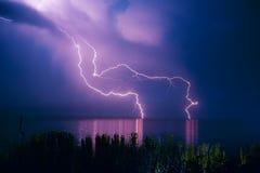 Θύελλα αστραπής Στοκ εικόνα με δικαίωμα ελεύθερης χρήσης