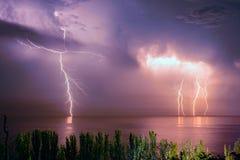 Θύελλα αστραπής Στοκ Εικόνες