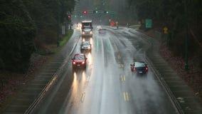 Θύελλα βροχής, πάρκο του Stanley, Βανκούβερ απόθεμα βίντεο
