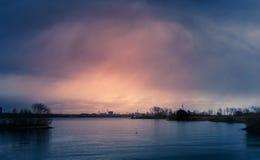 Θύελλα πέρα από τον κόλπο Humber Στοκ Εικόνα
