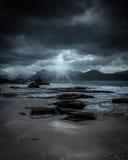 Θύελλα πέρα από το Lofoten Στοκ Εικόνα