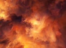 Θύελλα πυρκαγιάς διανυσματική απεικόνιση
