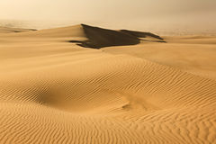 Θύελλα σκόνης αμμόλοφων άμμου Στοκ Φωτογραφίες