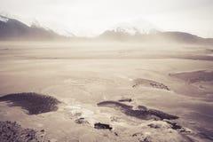 Θύελλα σκόνης στο Chilkat Στοκ φωτογραφία με δικαίωμα ελεύθερης χρήσης