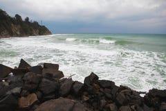 Θύελλα στην παραλία Στοκ Φωτογραφία