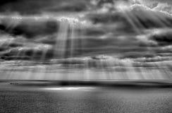 Θύελλα στη θάλασσα μετά από μια βροχή Στοκ εικόνες με δικαίωμα ελεύθερης χρήσης
