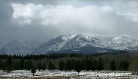 Θύελλα χιονιού βουνών Στοκ εικόνες με δικαίωμα ελεύθερης χρήσης