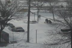 Θύελλα χιονιού στο Μπρούκλιν απόθεμα βίντεο
