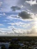Θύελλες βραδιού πέρα από Caloundra 8 Στοκ Φωτογραφία