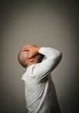 Θλίψη. Άτομο στις σκέψεις. Στοκ Φωτογραφία
