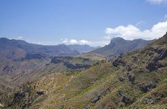 Θλγραν θλθαναρηα, άποψη από Artenara προς το οροπέδιο σε Acusa Verde Στοκ Φωτογραφίες