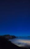 Θλγραν θλθαναρηα, Caldera de Tejeda, ομιχλώδης νύχτα στοκ φωτογραφία με δικαίωμα ελεύθερης χρήσης