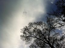 Θλιβερός ουρανός Στοκ εικόνες με δικαίωμα ελεύθερης χρήσης