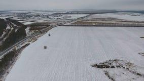 θλιβερός χειμώνας τοπίων εναέρια όψη φιλμ μικρού μήκους