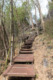 διάβαση πεζών μετάλλων για να ανεβεί και να κατεβάσει το λόφο Στοκ Εικόνες