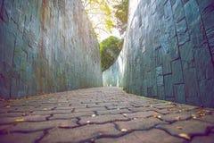 διάβαση πεζών πάρκων Στοκ εικόνα με δικαίωμα ελεύθερης χρήσης